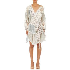 Womens Floral Silk-Blend Minidress Zimmermann