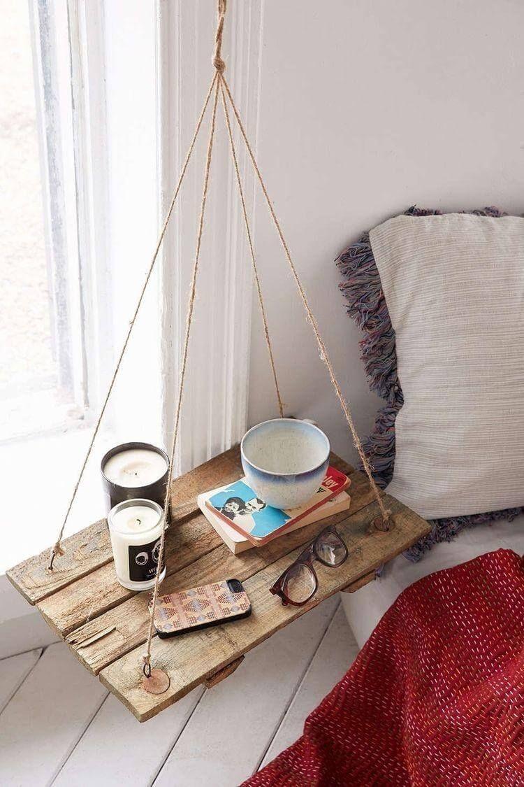 29 Inspiring Nightstand Ideas To A New Look In Your Bedroom Mobel Selber Bauen Nachttisch Aus Paletten Wohnen