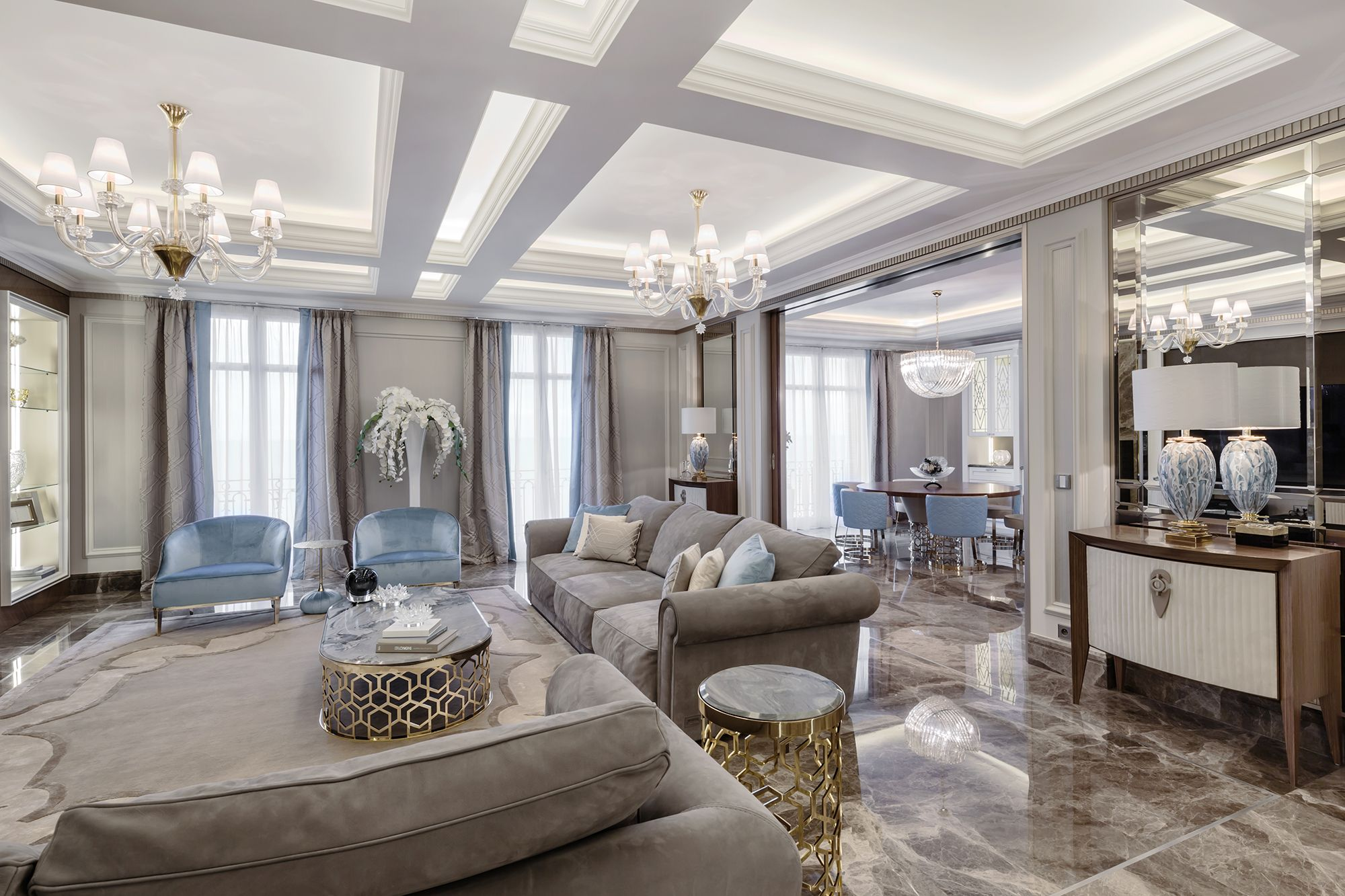 Living room in the luxurious recidence in Nice, on Côte d\'Azur ...