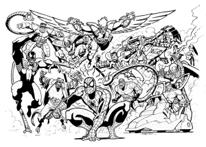 Spiderman Coloring Pages An Enjoyable Way To Learn Color All Marvels Superhero Marvel Coloring Spiderman Coloring Comic Villains