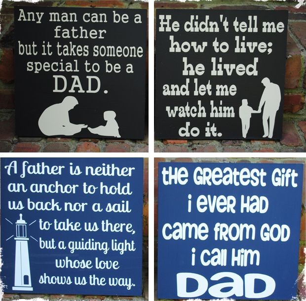 Get On Board For Father S Day Sentimental Signs For Dad With