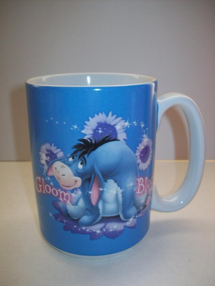 Blue Disney Eeyore Coffee Cup - We Got Character   Disney mugs, Eeyore, Coffee cups