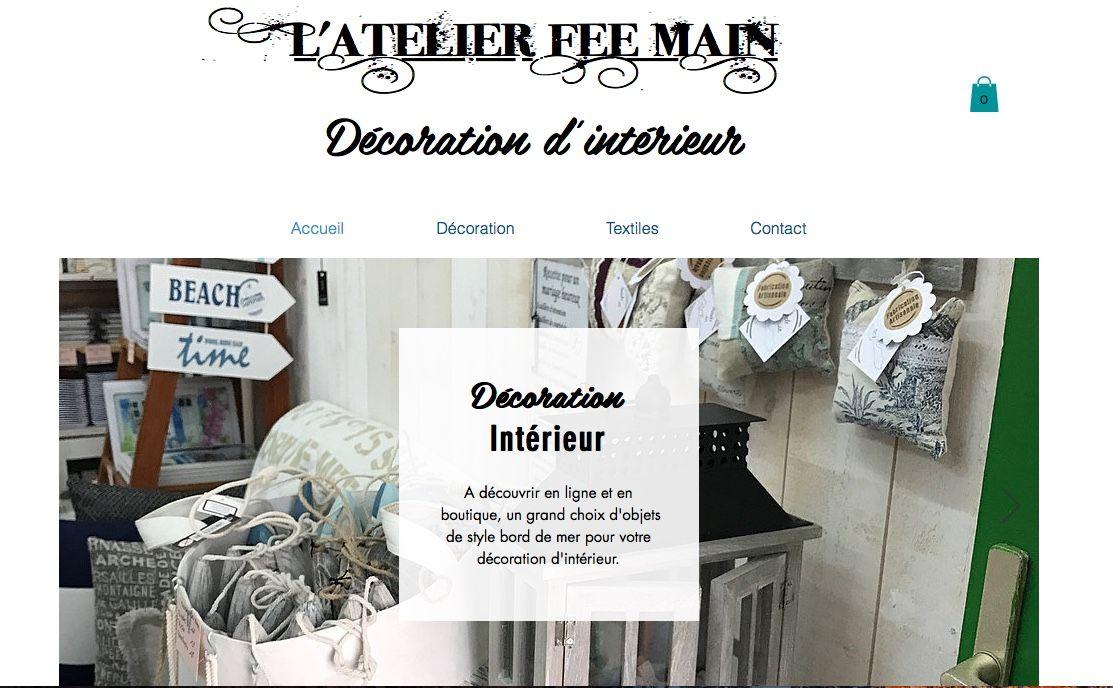 Site de vente en ligne de textiles fait main et de décoration d