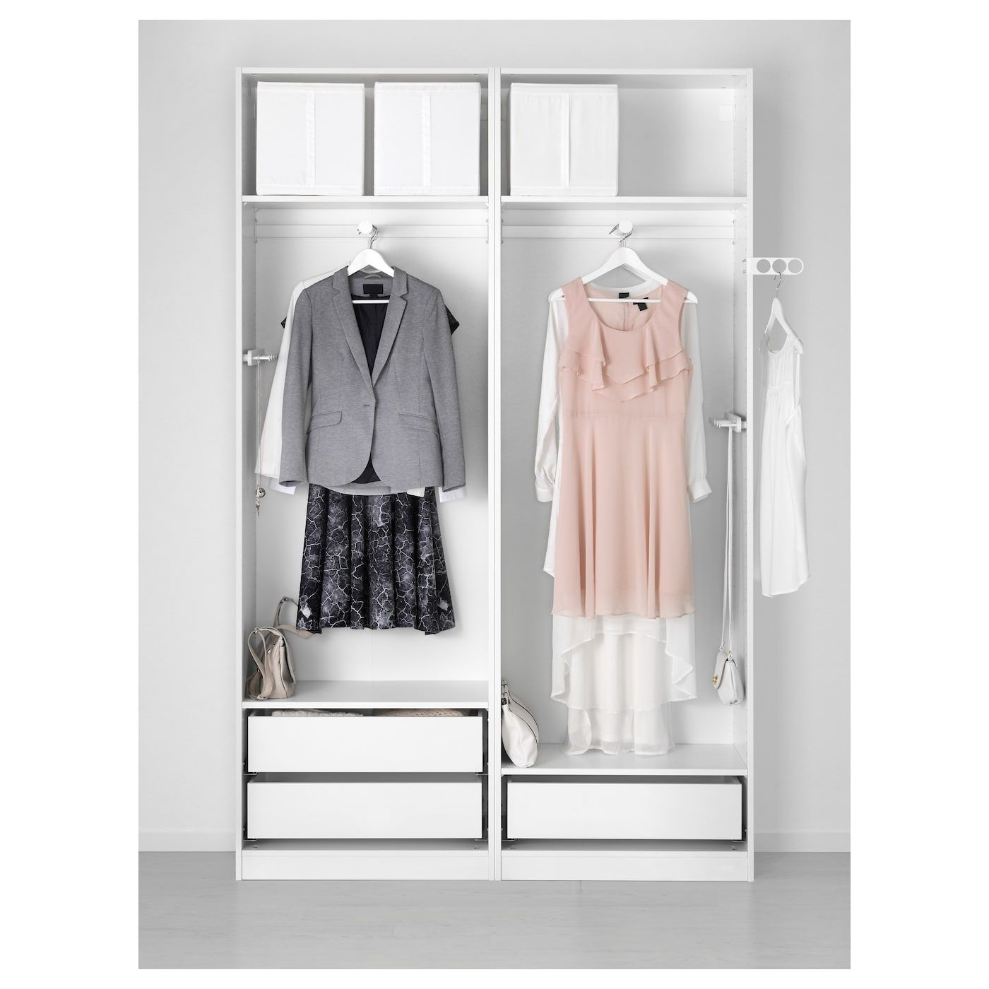 IKEA KOMPLEMENT Pullout mirror with hooks dark gray