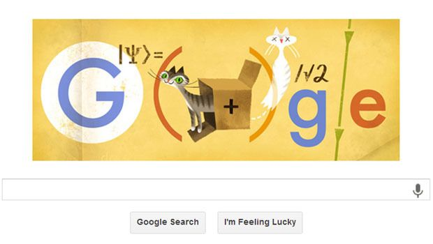 Erwin Schrodinger honored with Google Doodle, 8/12/2013