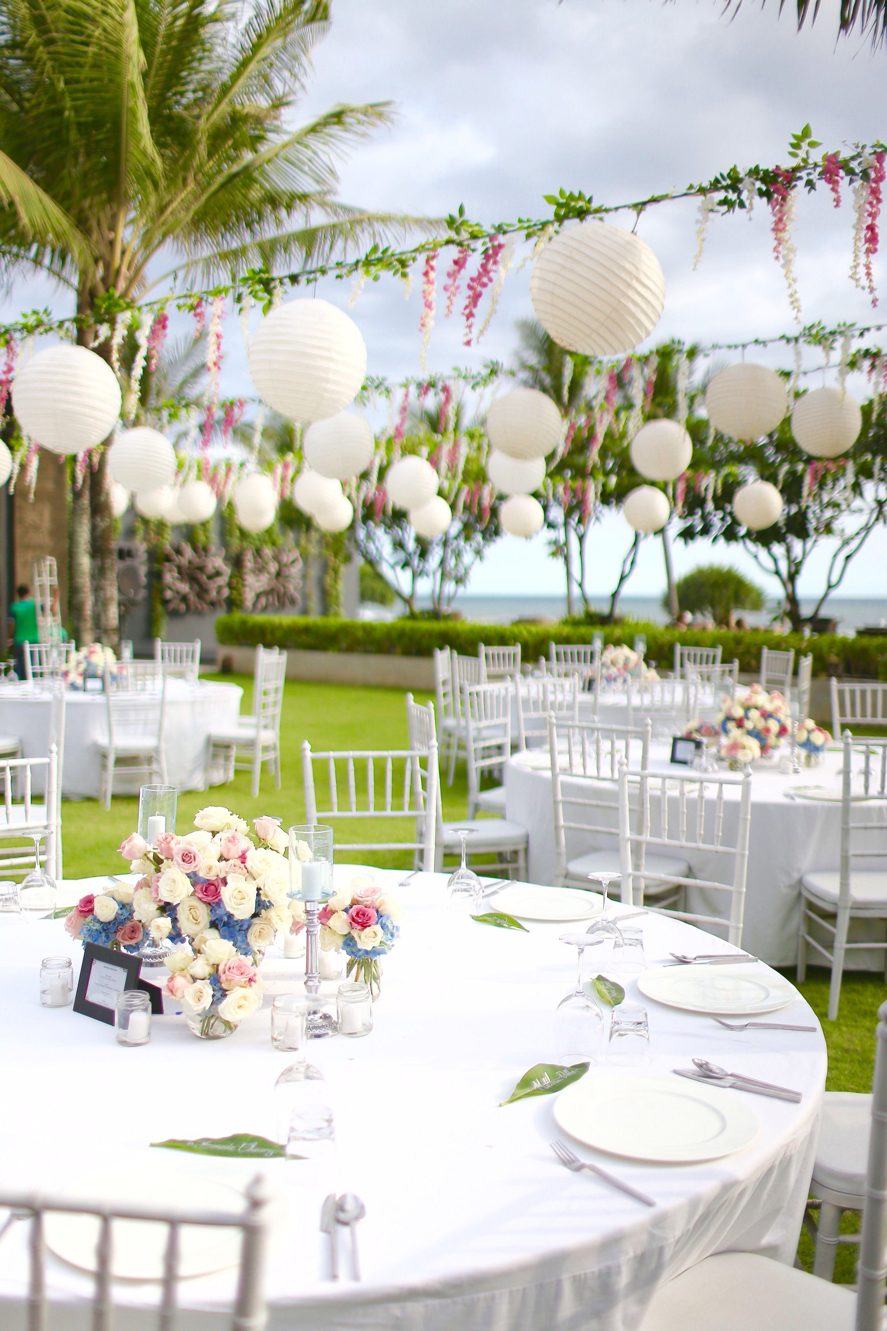 Alila Villa Soori Wedding Outdoor Reception Decoracion Boda