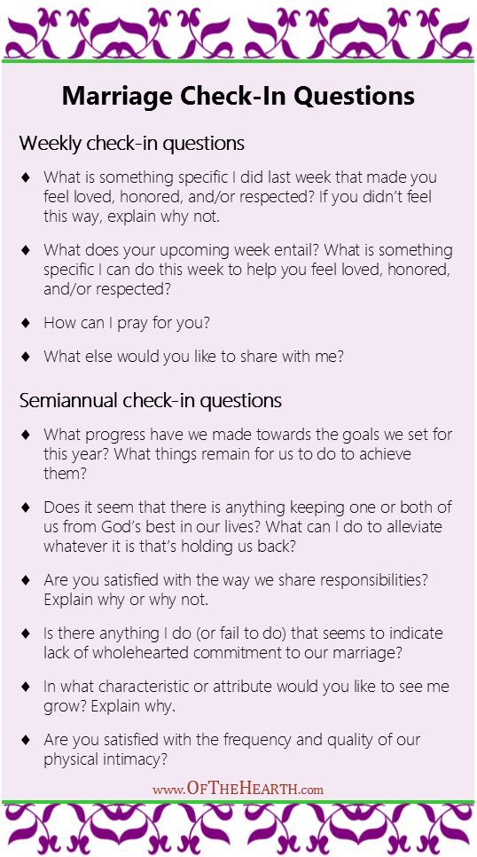 Marriage Check-In Questions  Love, Marriage, Healthy -1051
