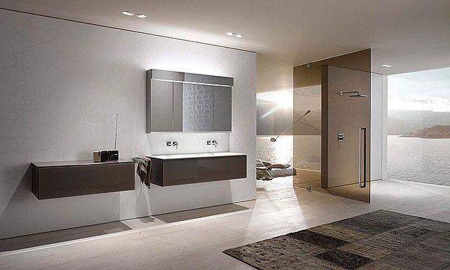 ensemble vasque en céramique, armoire de toilette et miroir Keuco - faire sa maison en 3d