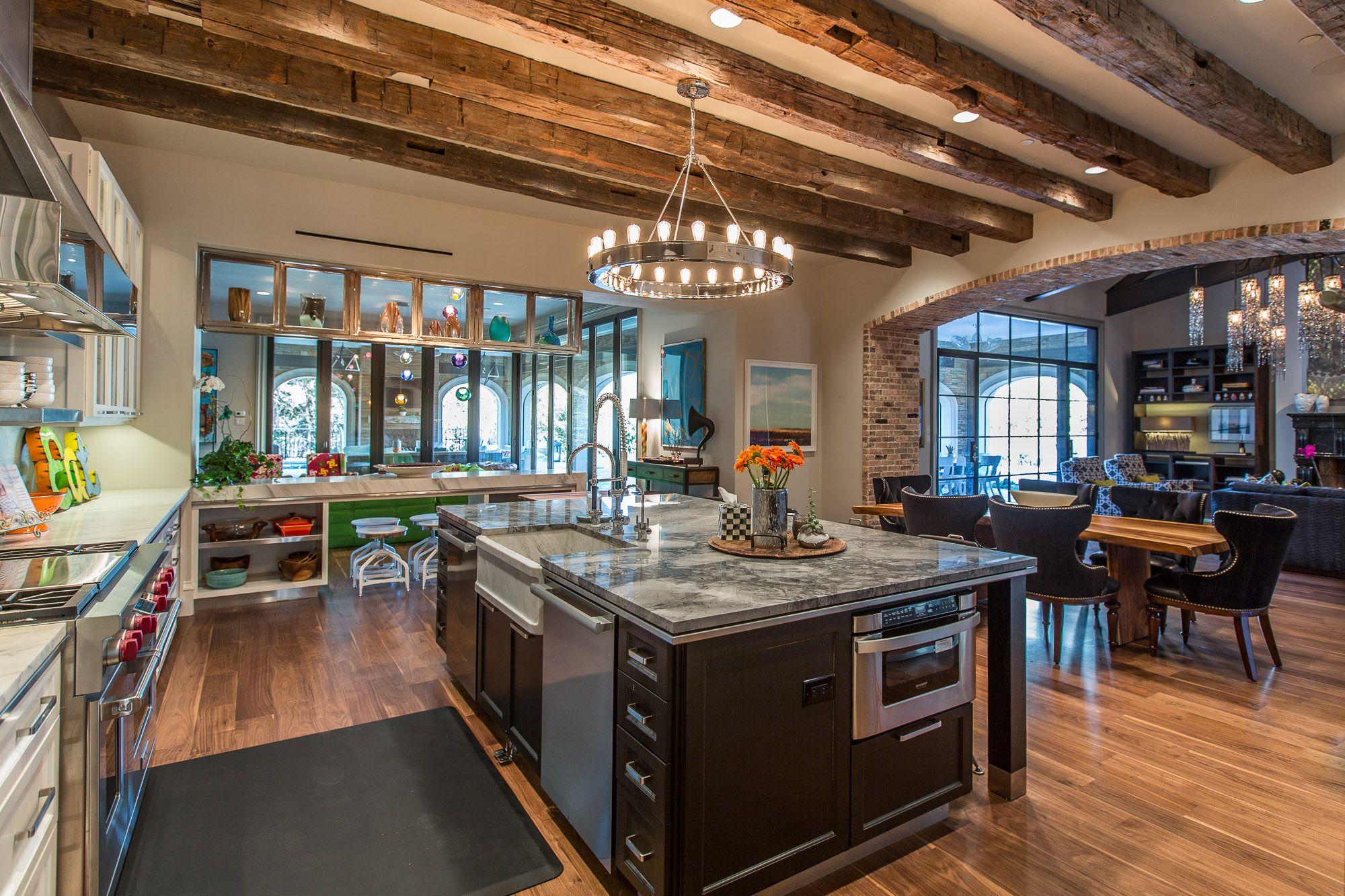 love brick archway large island and beams luxury kitchens kitchen design kitchen interior on kitchen interior luxury id=96475