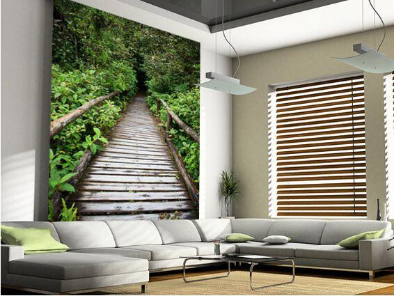 Custom Landscape Wallpaper Evergreen Forest Walkway 3d Modern Wallpaper For Living Room Bedroom Restaurant Wall Wall Murals Wall Wallpaper Landscape Wallpaper