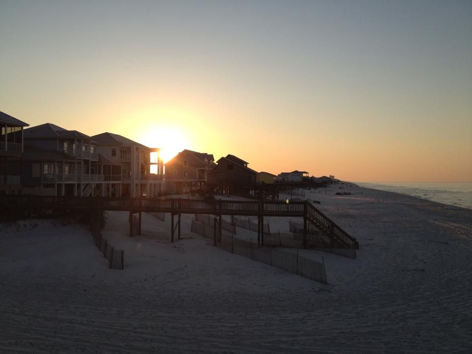 Sunrise from the deck of That'll do! Photo by: Kathy Tucker #Vacation #FortMorgan #GulfShores #Beach