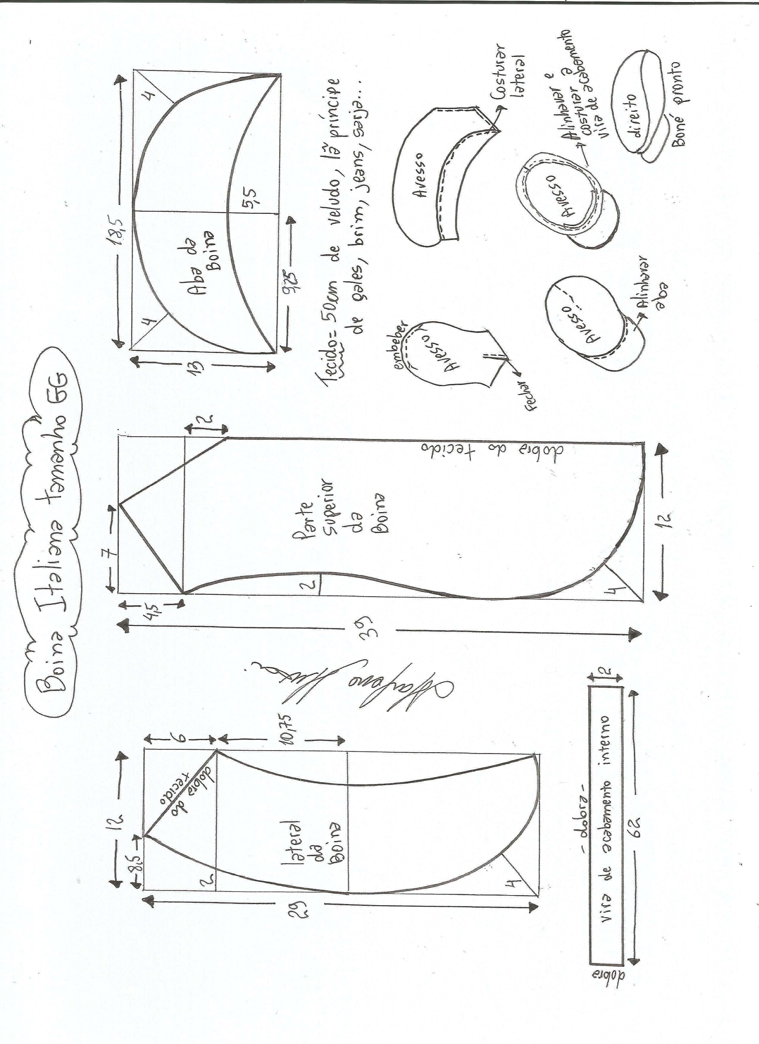 Esquema de modelagem de boina italiana tamanho GG. c0ca9bba599