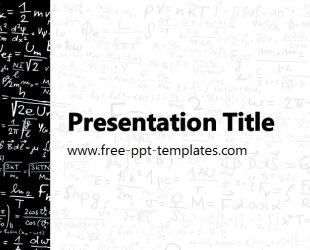 physics powerpoint template is a white template with black details
