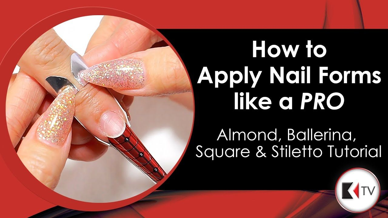 Howto Apply Nail Forms Like a PRO Almond, Ballerina
