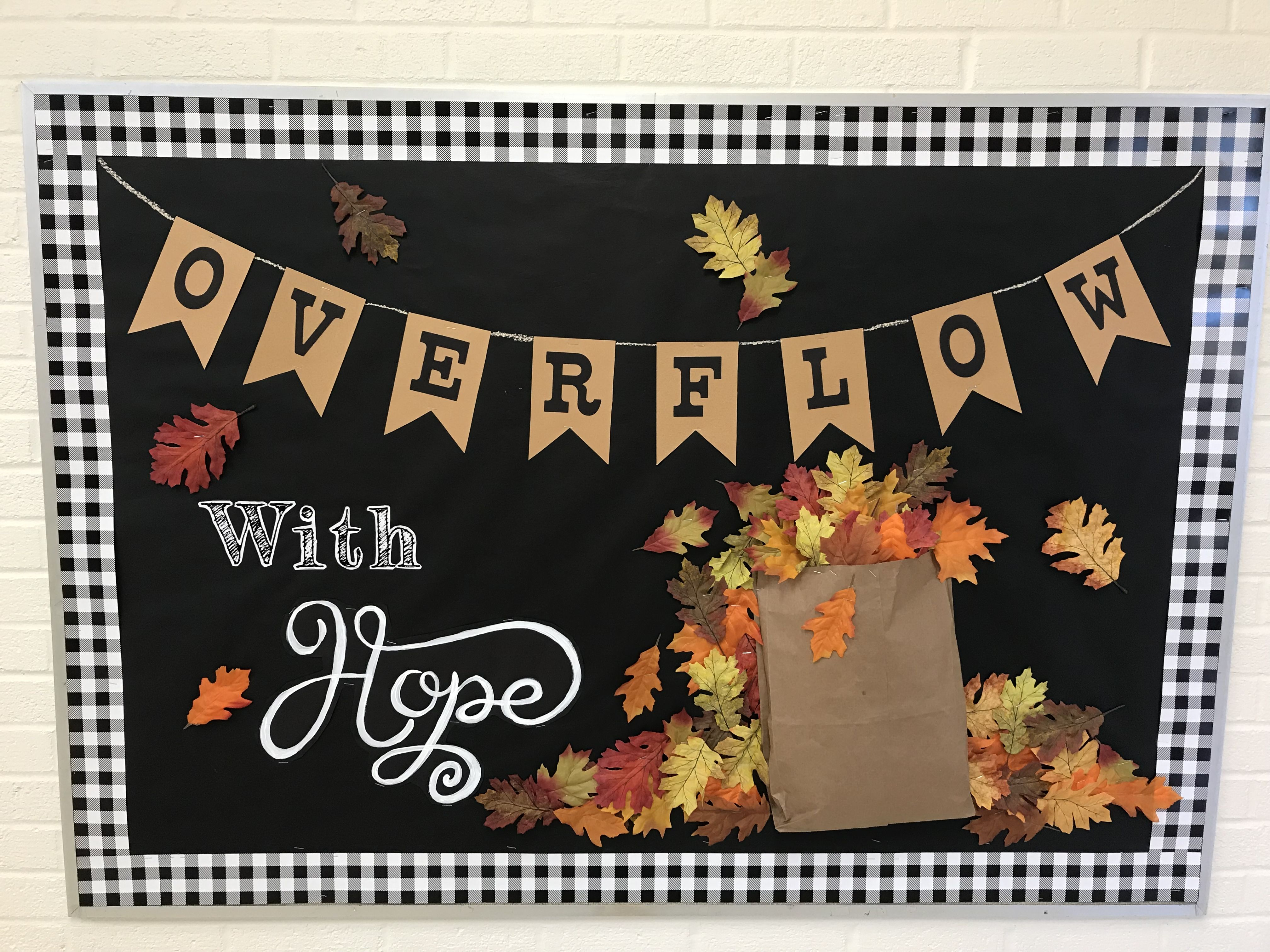 Fall Bulletin Board Ideas Overflow With Hope Leaves Oct Church Boards Halloween Teacher
