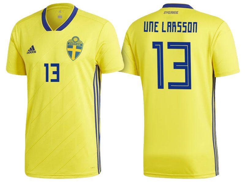 Sweden World Cup Jersey 2018 jacob une larsson Shirt  e45626e11