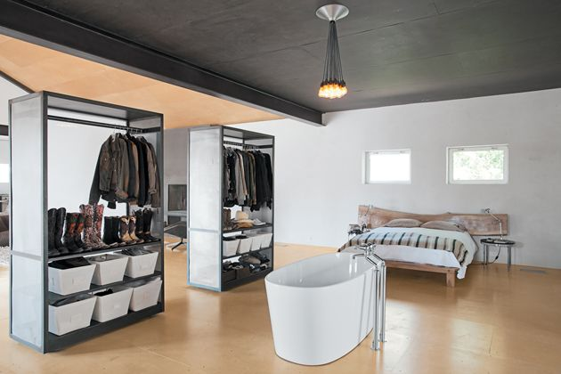 Relaxed Living in One Room | Marfa texas, Room and Divider