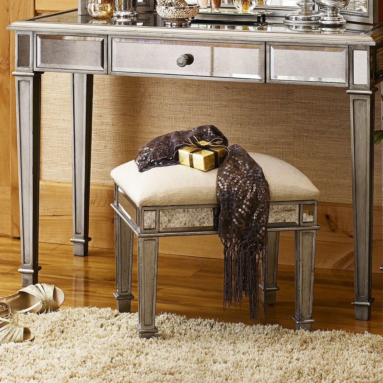 Excellent Hayworth Silver Vanity Stool Powder Room Vanity Silver Andrewgaddart Wooden Chair Designs For Living Room Andrewgaddartcom