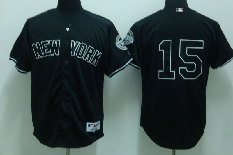 timeless design 08d49 d09b8 Men's MLB New York Yankees #15 Thurman Munson Black 2009 ...