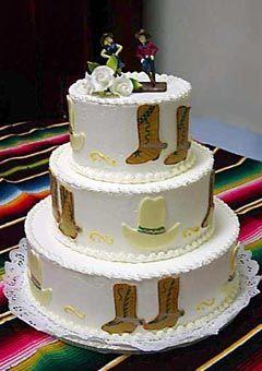 Country western style wedding cake | CAKES | Pinterest | Cake