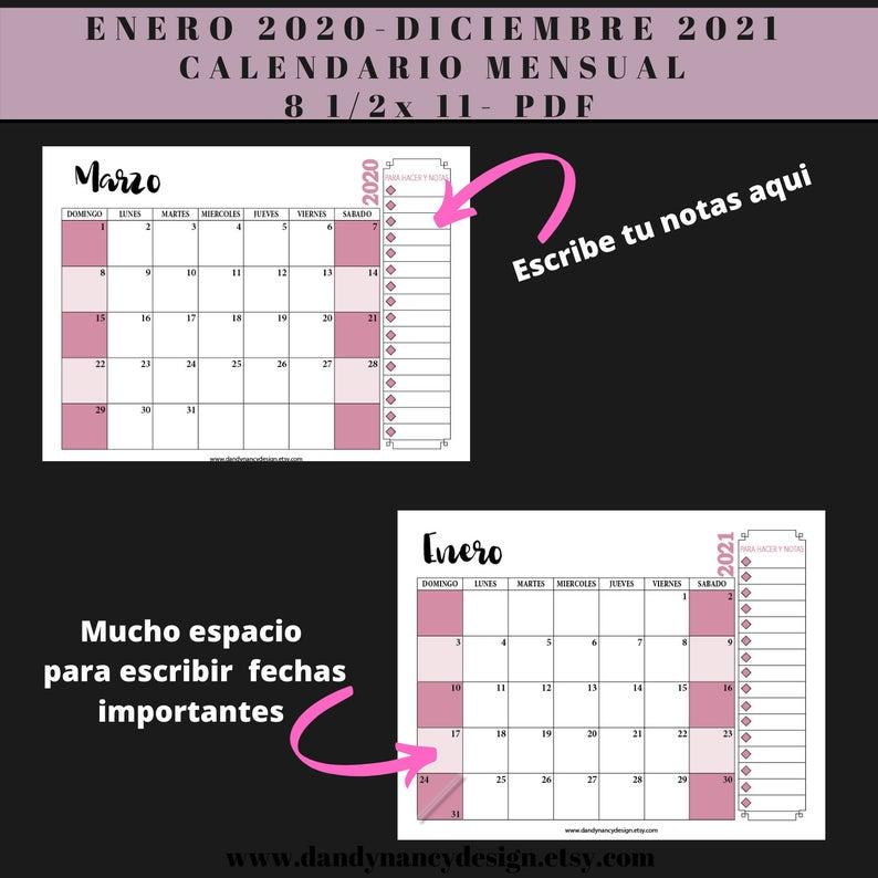 calendario 2020 2021 planificador para imprimir espanol on office wall colors 2021 id=28202