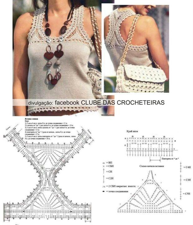 Detalhe#acabamento crochet detail   crochê para blusas   Pinterest ...