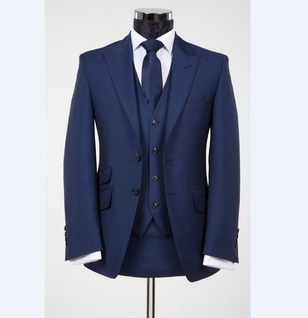 Fashion Mens Dinner Party Prom Suits Groom Tuxedos Groomsmen Wedding ...