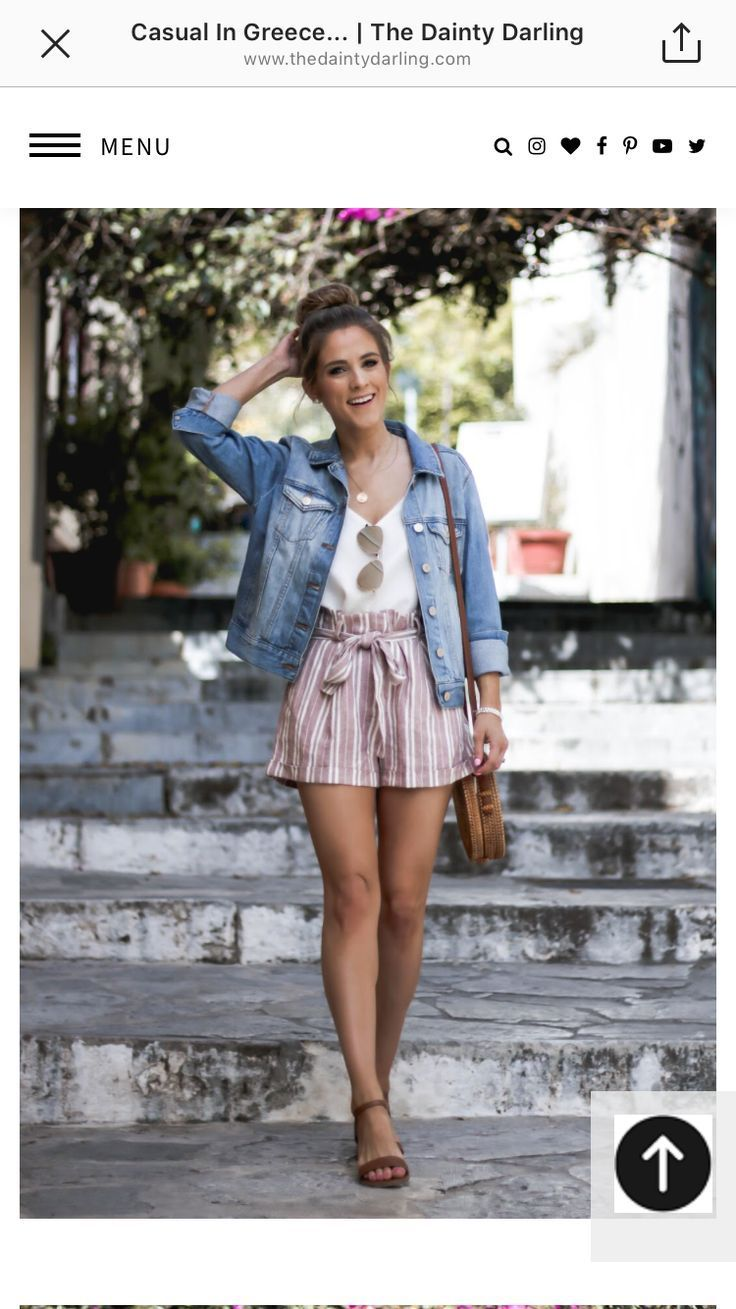 Really cute outfit. I already have a jean jacket. A pair of shorts like this wou…