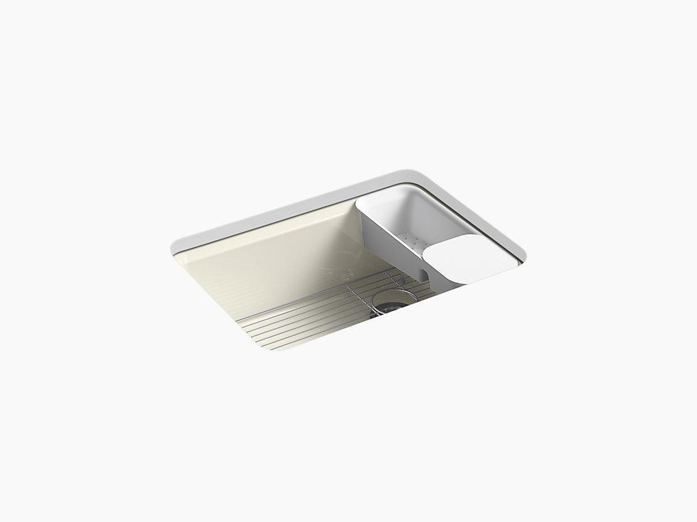 Kohler K 8668 5ua2 Riverby 27 Cast Iron Undermount Kitchen Sink