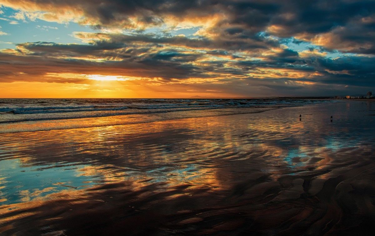 صورة عالية الدقة خالية من المحيط غروب الشمس Photo Sunset Celestial