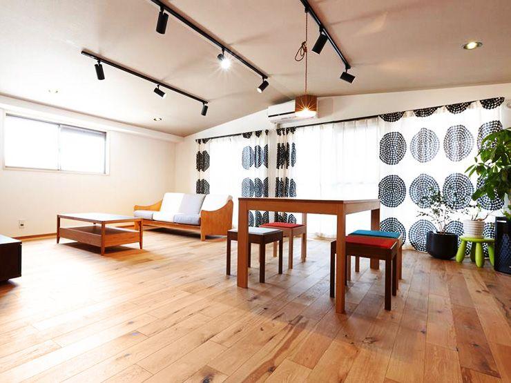 オークマルチレイヤー(突板)一枚ものスーパーワイルド(低温式床暖房兼用) (植物オイル仕上げ、12×125×909mm) 愛知県 個人住宅 wacstyle施工