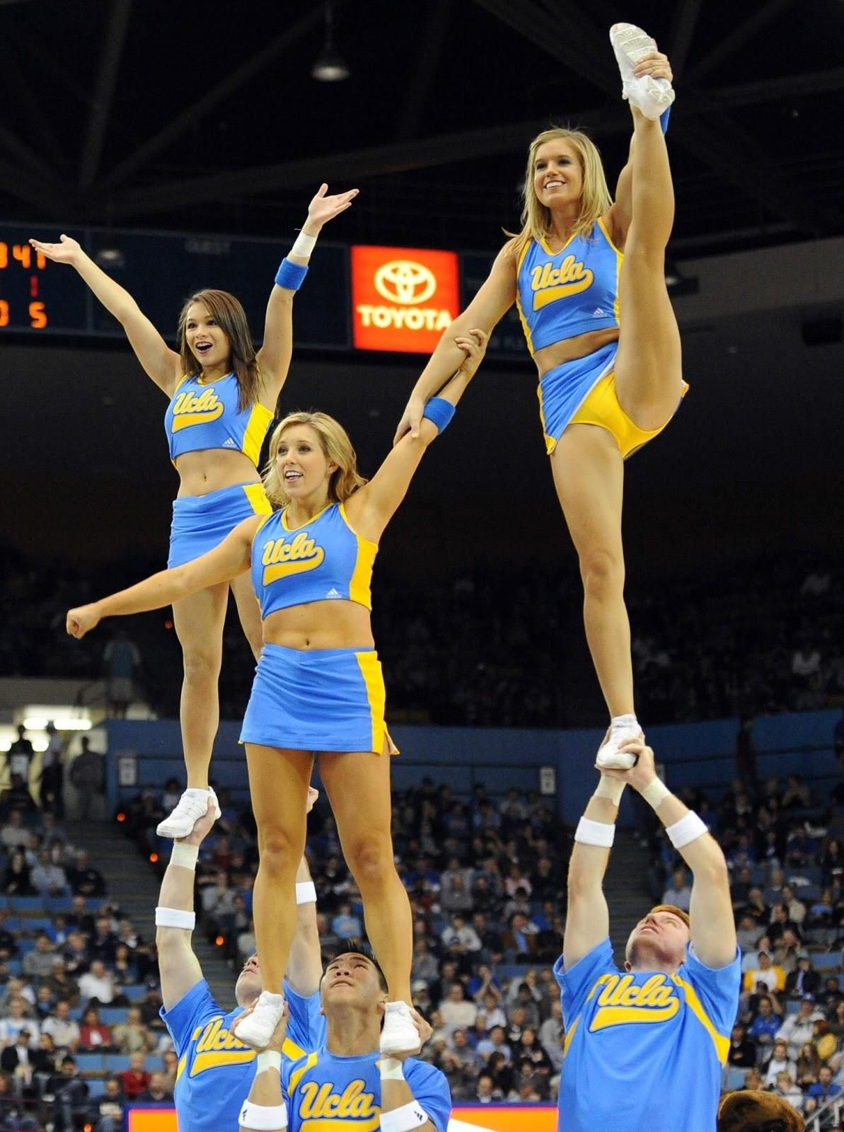 UCLA Cheerleaders Are Flexible