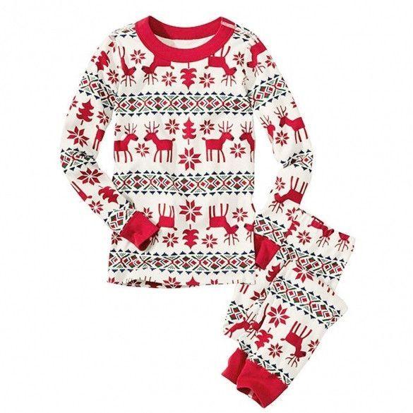 Christmas XMAS Baby Kids Adult Family Pajamas Set Sleepwear Lounge