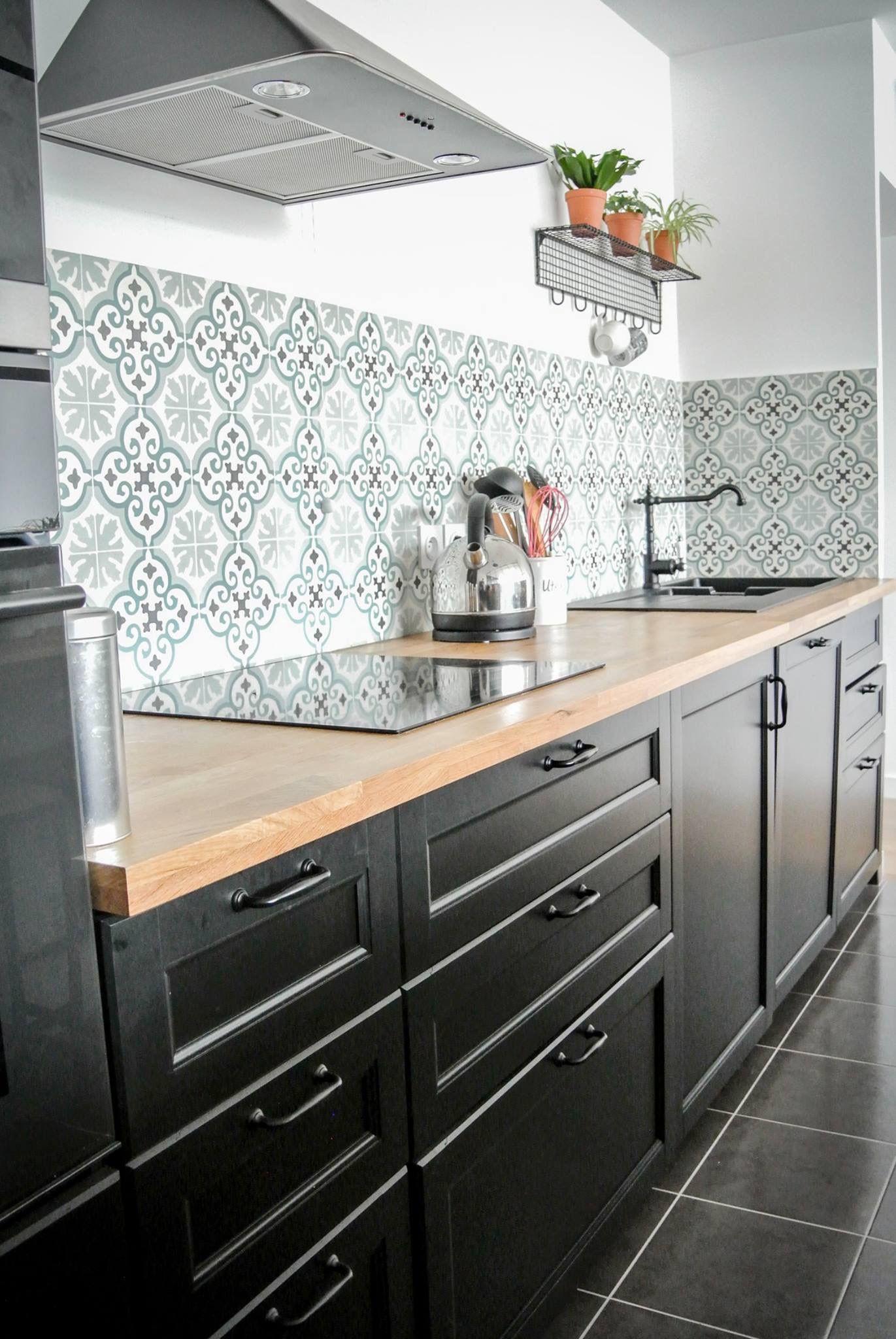 Crédence En Carreaux De Ciment Pour Cuisine beautiful #kitchen ##backsplash with patterned #cementtiles