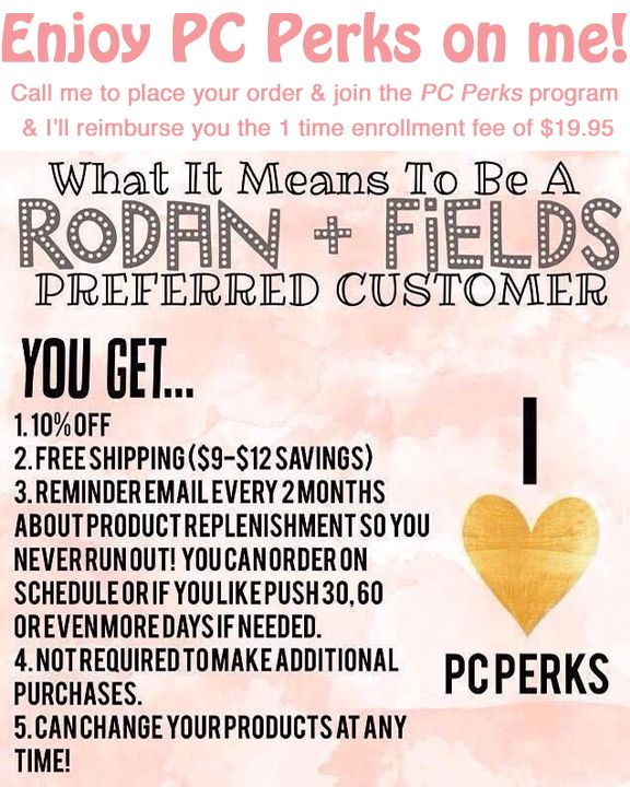 Enjoy PC Perks with a one-time $19.95 enrollment fee: • Free shipping on subscription orders**  • Up to 10-percent savings* on all R+F products  • Convenient, automatic delivery of subscription orders every 60 days  • Early access to new R+F products and exclusive promotions  • Priority customer service  • No commitment—cancel at anytime