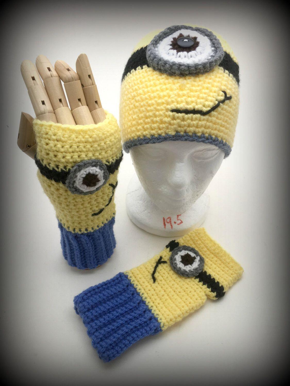 Crochet minion hat and glove set two eye minion crochet ideas crochet minion hat and glove set two eye minion bankloansurffo Choice Image