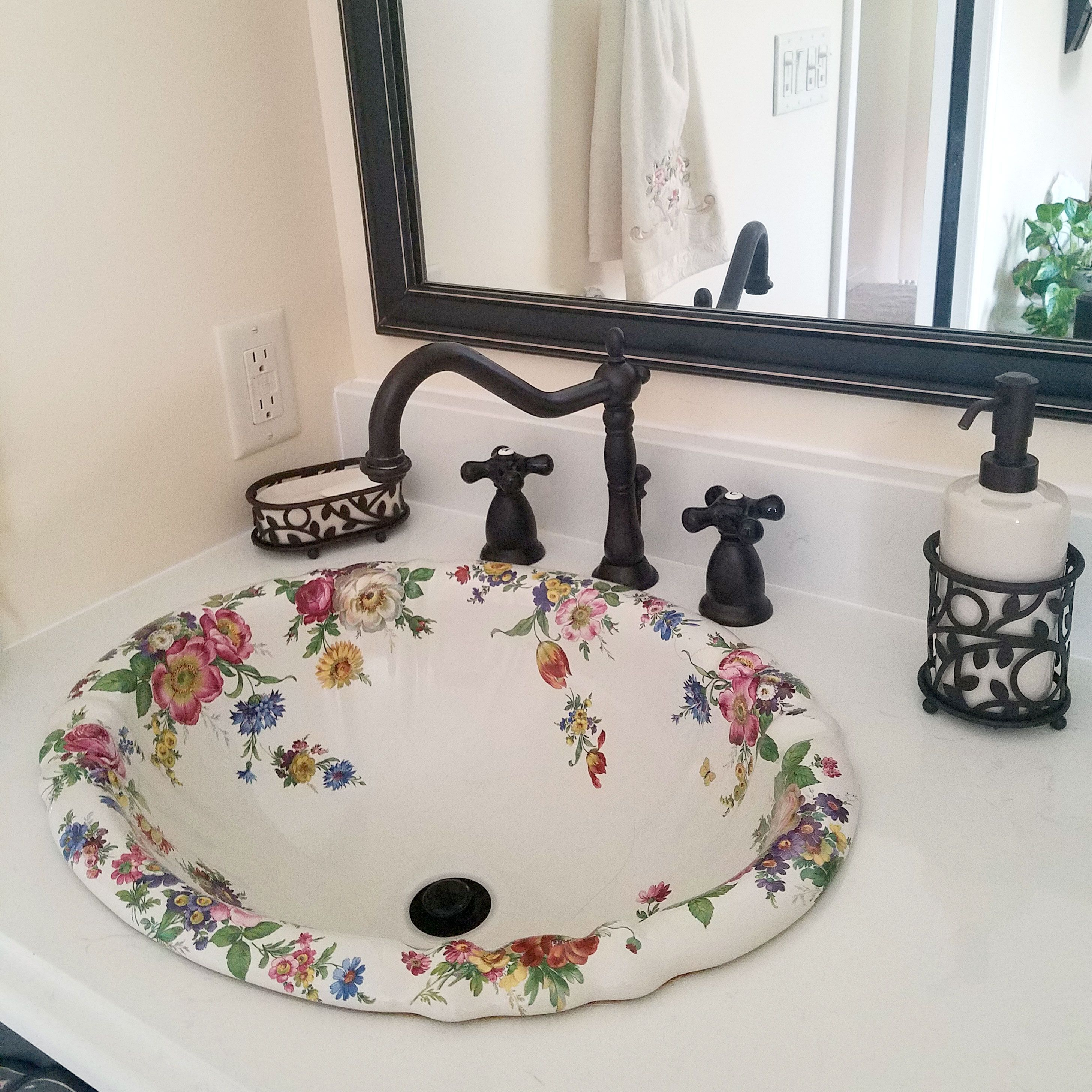 Photo of Scented Garden Fluted Drop-in Sink