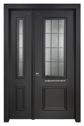 Decorative Residential Steel Security Doors With Many Finish