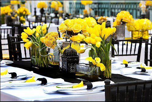 Yellow and Green Wedding Decorations