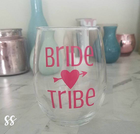 Bride Tribe Bridal Party Wedding Bridesmaids Bachelorette Decal Gift
