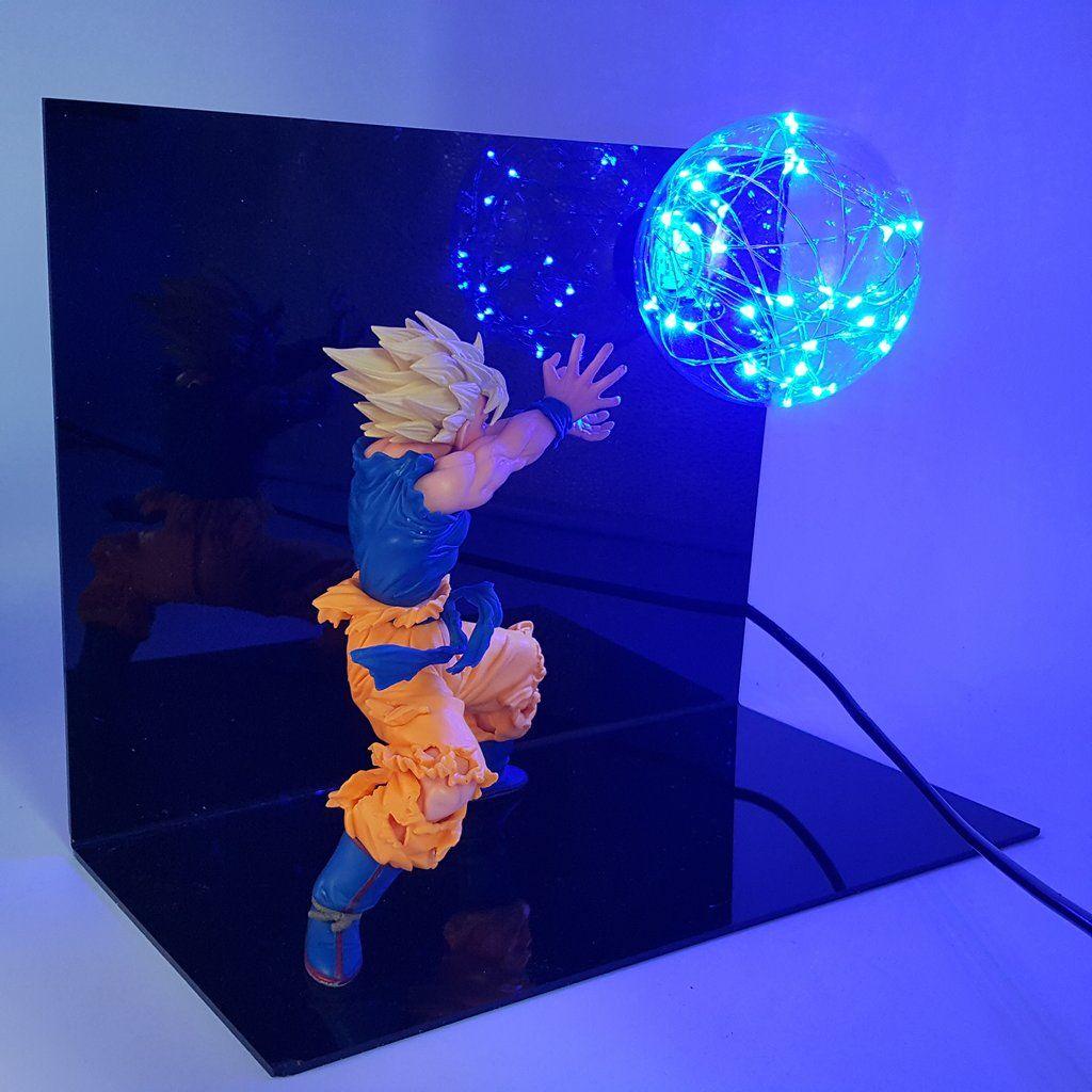 New Son Goku Kamehameha 3d Lamp Anime
