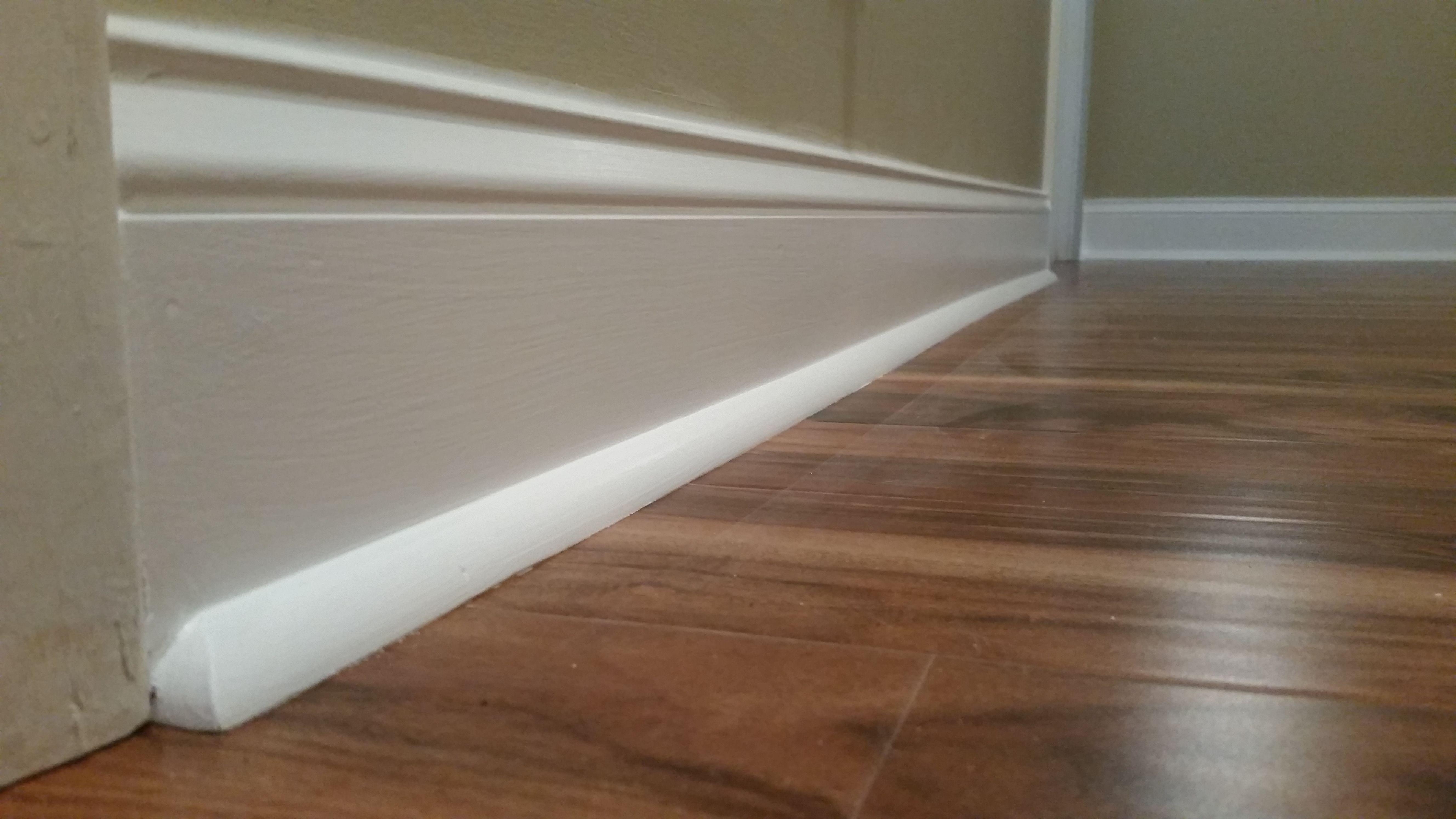 Laminate Quarter Round And Base Trim Restoration Installing Tile Floor Flooring Easy Basement Ceiling