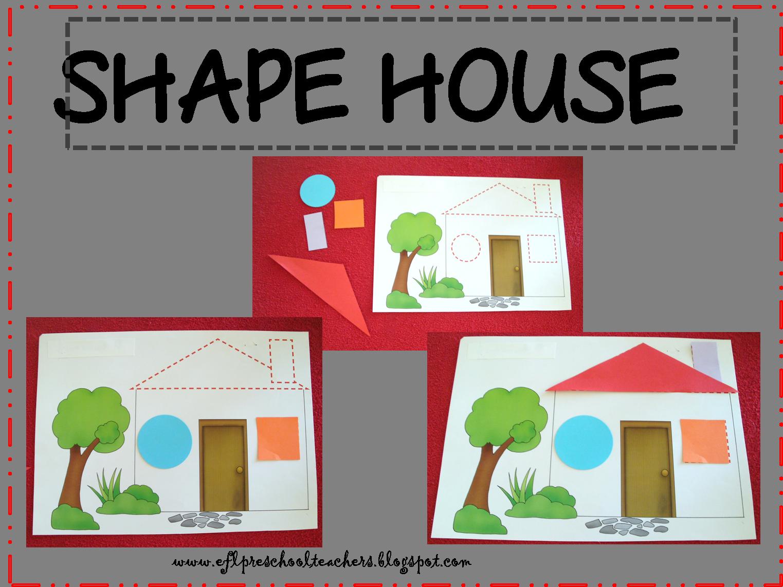 Esl House And Shape Unit Worksheet