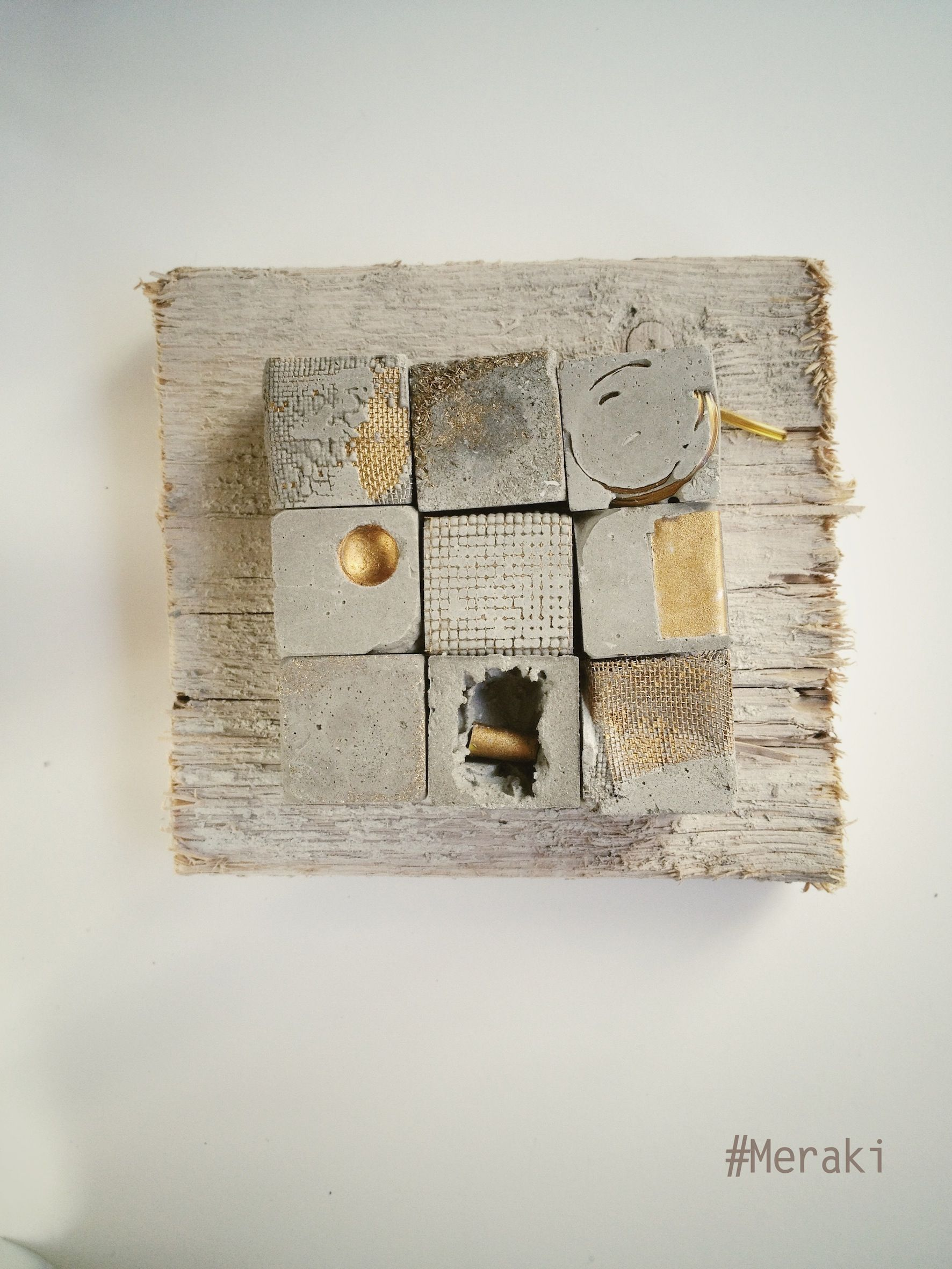 betonbild auf holz beton pinterest holz keramik und zement. Black Bedroom Furniture Sets. Home Design Ideas