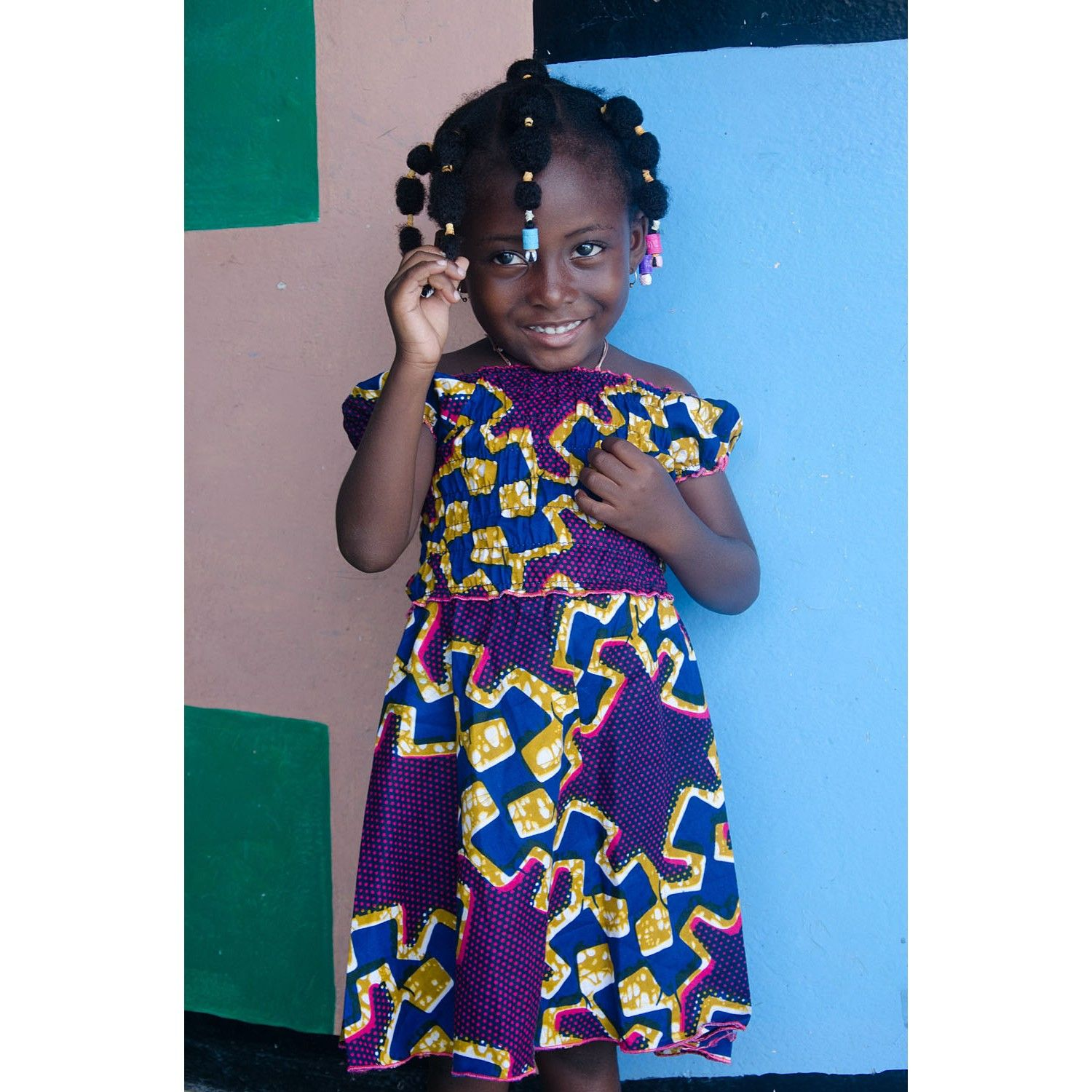 Robe Africaine: Robe Africaine Fillette En Pagne Wax