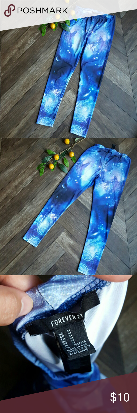 Forever 21 Galaxy Leggings Forever 21 Galexy Leggins. EUC. Inseam 26.5 Forever 21 Pants Leggings