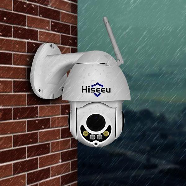 Hiseeu 1080P PTZ 5X Zoom Audio IP Camera Outdoor 2MP Color