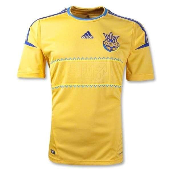 adidas Ukraine 2013 Official Home Soccer Jersey - model X11627 - Only $76.49