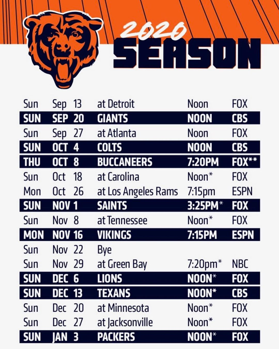Sports On Tap Chicago On Instagram Record Predictions Go Chicago Bears Football Chicago Bears Nfl Chicago Bears