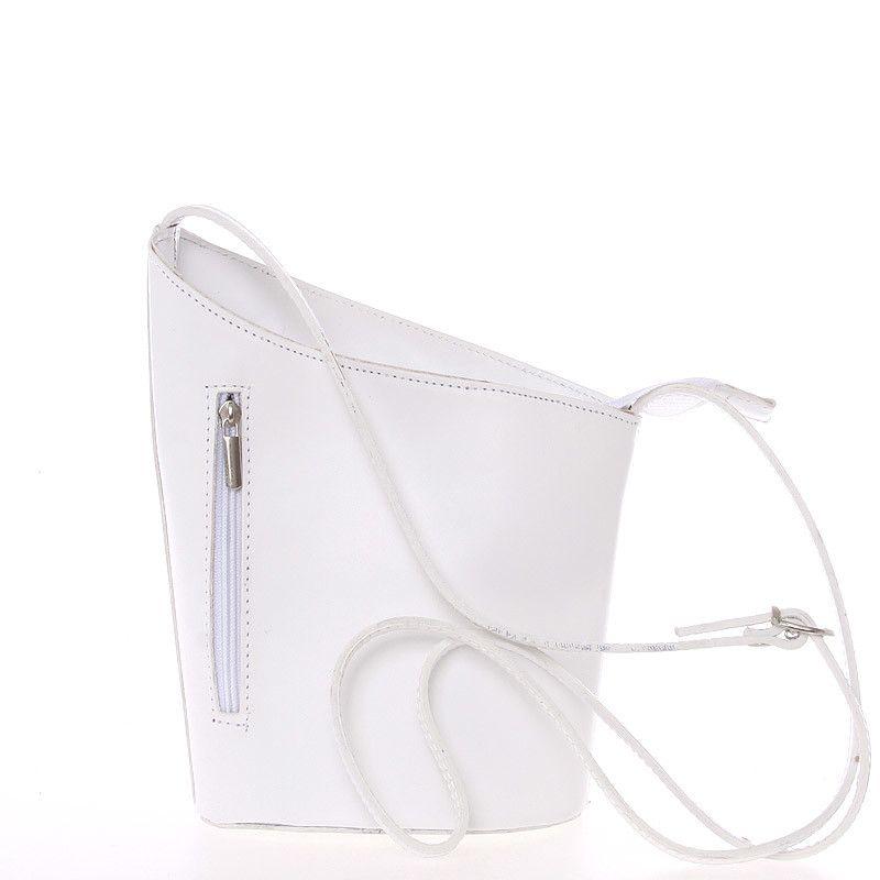 f98ab7c9eb91 Originální bílá kožená crossbody kabelka - ItalY Meidi